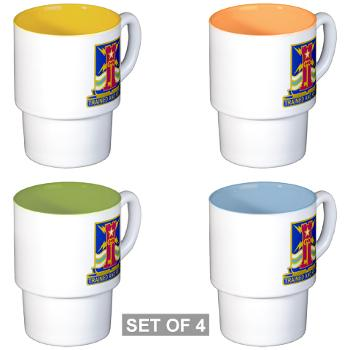 1ID4BCTSTB - M01 - 03 - DUI - 4th BCT - Special Troops Battalion - Stackable Mug Set (4 mugs)