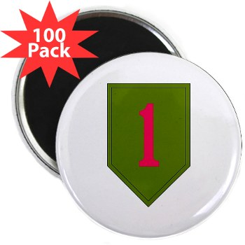 "1IDSTB - M01 - 01 - DUI - Division - Special Troops Battalion 2.25"" Magnet (100 pack)"
