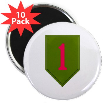 "1IDSTB - M01 - 01 - DUI - Division - Special Troops Battalion 2.25"" Magnet (10 pack)"