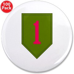 "1IDSTB - M01 - 01 - DUI - Division - Special Troops Battalion 3.5"" Button (100 pack)"