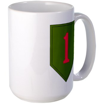 1IDSTB - M01 - 03 - DUI - Division - Special Troops Battalion Large Mug