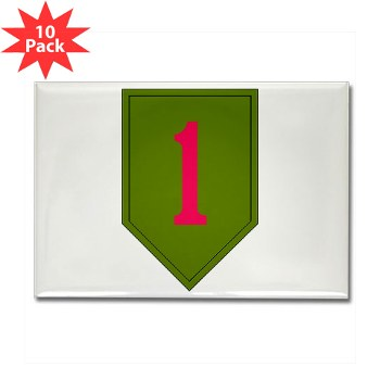1IDSTB - M01 - 01 - DUI - Division - Special Troops Battalion Rectangle Magnet (10 pack)