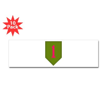 1IDSTB - M01 - 01 - DUI - Division - Special Troops Battalion Sticker (Bumper 10 pk)