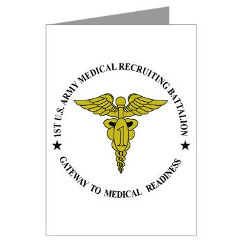 1MRB - M01 - 02 - DUI - 1st Medical Recruiting Battalion (Patriots) - Greeting Cards (Pk of 10)