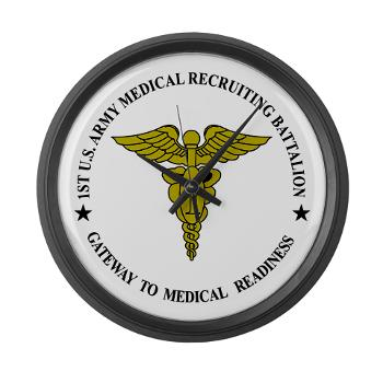 1MRB - M01 - 04 - DUI - 1st Medical Recruiting Battalion (Patriots) - Large Wall Clock