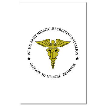 1MRB - M01 - 02 - DUI - 1st Medical Recruiting Battalion (Patriots) - Mini Poster Print