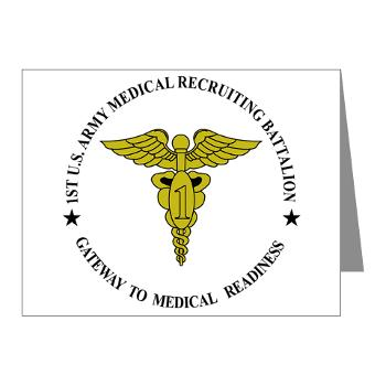 1MRB - M01 - 02 - DUI - 1st Medical Recruiting Battalion (Patriots) - Note Cards (Pk of 20)