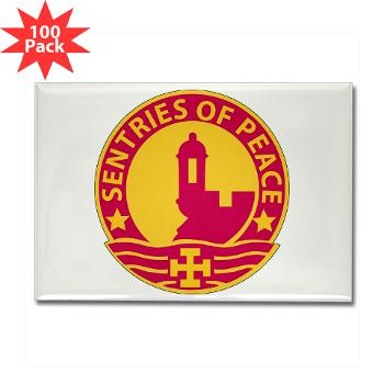 1MSC - M01 - 01 - DUI - 1st Mission Support Command - Rectangle Magnet (100 pack)