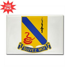1S14CR - M01 - 01 - DUI - 1st Sqdrn - 14th Cavalry Regt - Rectangle Magnet (100 pack)