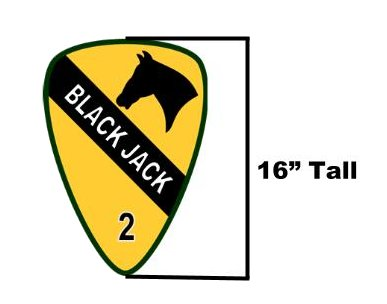 "1st Cav 2BCT ""Blackjack"" - Signage Item 1"