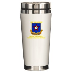 1s409rc - M01 - 03 - DUI - 1st Squadron - 409th Regiment (CAV)(TS) with Text Ceramic Travel Mug