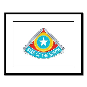 205IB - M01 - 02 - DUI - 205th Infantry Brigade Large Framed Print