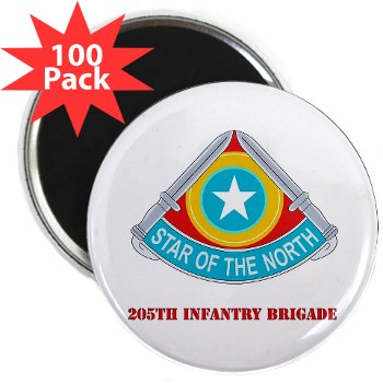 "205IB - M01 - 01 - DUI - 205th Infantry Brigade with Text 2.25"" Magnet (100 pack)"