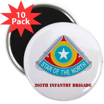 "205IB - M01 - 01 - DUI - 205th Infantry Brigade with Text 2.25"" Magnet (10 pack)"