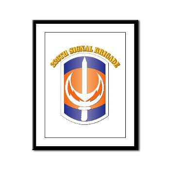 228SB - M01 - 02 - SSI - 228th Signal Brigade with Text - Framed Panel Print