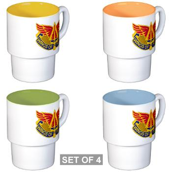 244AB - M01 - 03 - DUI - 244th Aviation Brigade - Stackable Mug Set (4 mugs)