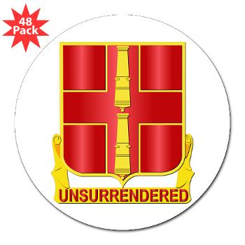 "263ADAB - M01 - 01 - DUI - 263rd Air Defense Artillery Brigade - 3"" Lapel Sticker (48 pk)"