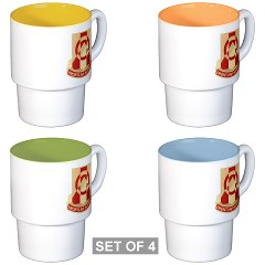 296BSB - M01 - 03 - DUI - 296th Bde - Support Bn - Stackable Mug Set (4 mugs)