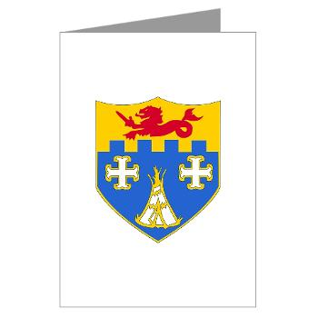 2B12IR - M01 - 02 - DUI - 2nd Battalion - 12th Infantry Regiment - Greeting Cards (Pk of 20)