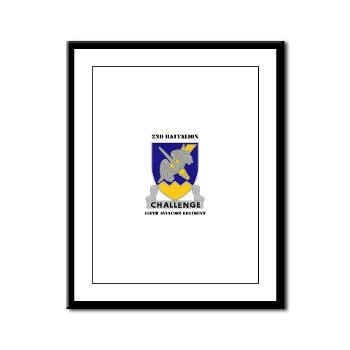 2B158AR - M01 - 02 - 2nd Battalion, 158th Aviation Regiment with Text - Framed Panel Print