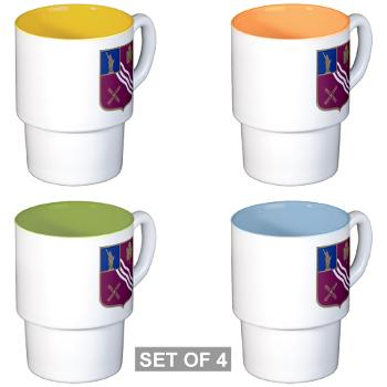 2B306FAR - M01 - 03 - DUI - 2nd Bn - 306th FA Regt - Stackable Mug Set (4 mugs)