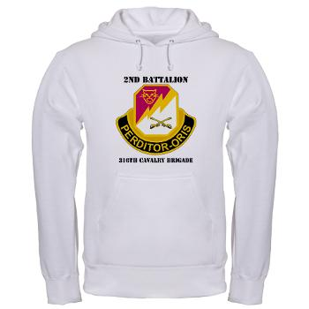 2B316CB - A01 - 03 - DUI - 2Bn - 316th Cavalry Bde with text Hooded Sweatshirt