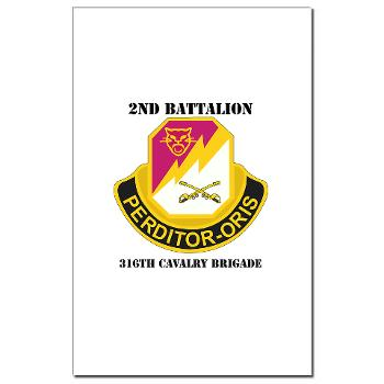 2B316CB - M01 - 02 - DUI - 2Bn - 316th Cavalry Bde with text Mini Poster Print