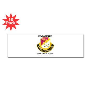 2B316CB - M01 - 01 - DUI - 2Bn - 316th Cavalry Bde with text Sticker (Bumper 10 pk)