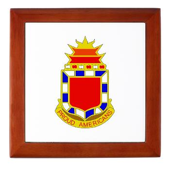 2B32FAR - M01 - 03 - DUI - 2nd Bn - 32nd Field Artillery Regiment Keepsake Box
