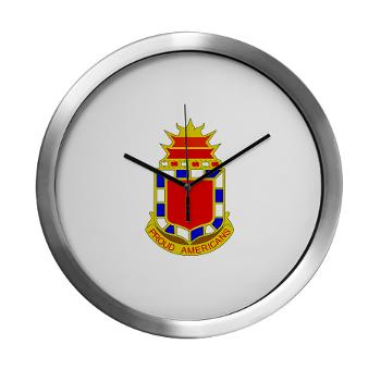 2B32FAR - M01 - 03 - DUI - 2nd Bn - 32nd Field Artillery Regiment Modern Wall Clock