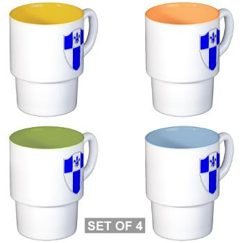 2B345IR - M01 - 03 - DUI - 2nd Bn - 345th Infantry Regt Stackable Mug Set (4 mugs)
