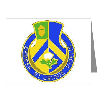 2B346R - M01 - 02 - DUI - 2nd Battalion - 346 Regiment - FSB Note Cards (Pk of 20)