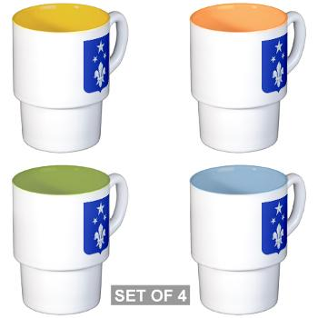 2B351IR - M01 - 03 - DUI - 2nd Bn - 351st Infantry Regt - Stackable Mug Set (4 mugs)