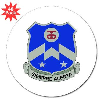 "2B357IR - M01 - 01 - DUI - 2nd Bn - 357th Infantry Regiment 3"" Lapel Sticker (48 pk)"