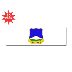 1B410RFA - M01 - 01 - DUI - 1st Bn - 410th Regiment (Field Artillery) (MLRS) Sticker (Bumper 10 pk)