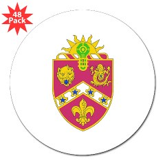 "2B3FAR - M01 - 01 - DUI - 2nd Battalion - 3rd Field Artillery Regiment 3"" Lapel Sticker (48 pk)"