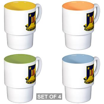 2B5BC - M01 - 03 - DUI - 2nd Bn 5th Brigade Combat Team Stackable Mug Set (4 mugs)