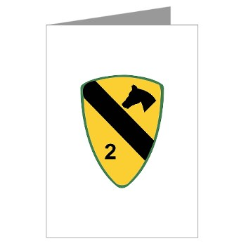 2BCT - M01 - 02 - DUI - 2nd Heavy BCT - Black Jack - Greeting Cards (Pk of 20)