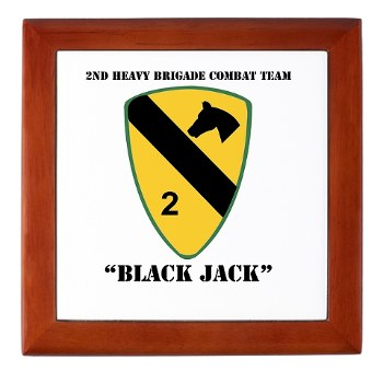 2BCT - M01 - 03 - DUI - 2nd Heavy BCT - Black Jack with text - Keepsake Box