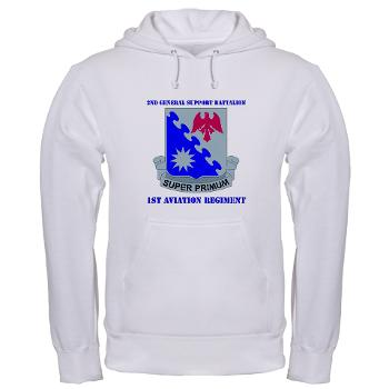 2BGS1AR - A01 - 03 - DUI - 2nd GS Bn - 1st Aviation Regiment with Text Hooded Sweatshirt