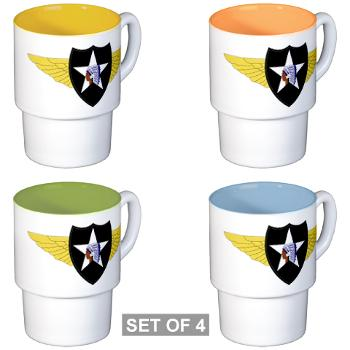 2CAB - M01 - 03 - SSI - 2nd CAB Stackable Mug Set (4 mugs)