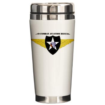 2CAB - M01 - 03 - SSI - 2nd CAB with Text Ceramic Travel Mug