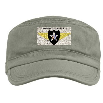2CAB - A01 - 01 - SSI - 2nd CAB with Text Military Cap