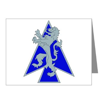 2HBCTDB - M01 - 02 - DUI - 2nd HBCT - Dagger Brigade Note Cards (Pk of 20)