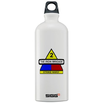 2BCTHM - M01 - 03 - DUI - 2nd BCT Heavy Metal Military Sigg Water Bottle 1.0L