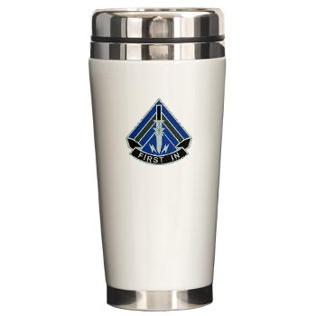 2HBCTSTB - M01 - 03 - DUI - 2nd BCT - Special Troops Bn - Ceramic Travel Mug