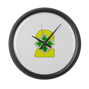 2HBCTW - M01 - 03 - DUI - 2nd Heavy BCT - Warhorse - Large Wall Clock