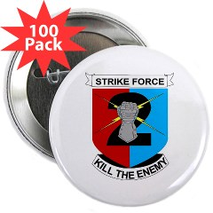 "2ID2SBCT - M01 - 01 - DUI - 2nd Stryker Brigade Combat Team 2.25"" Button (100 pack)"