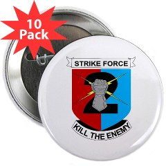 "2ID2SBCT - M01 - 01 - DUI - 2nd Stryker Brigade Combat Team 2.25"" Button (10 pack)"