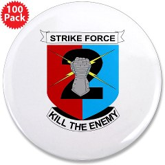 "2ID2SBCT - M01 - 01 - DUI - 2nd Stryker Brigade Combat Team 3.5"" Button (100 pack)"